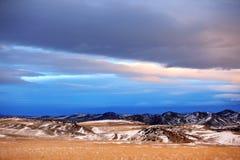 Estação do inverno na área rural de Montana imagem de stock