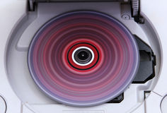 Estação do jogo com rolamento do jogo colorido do CD Imagem de Stock Royalty Free