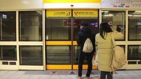 Estação do leste da porta do metro de Taipei HD video estoque