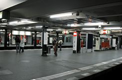 Estação do metro fotos de stock royalty free