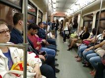 Estação do metro com as colunas em Moscovo Imagem de Stock