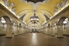 Estação do metro Komsomolskaya de Moscou foto de stock