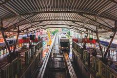 Estação do monotrilho de Bukit Bintang em Kuala Lumpur, Malásia fotos de stock