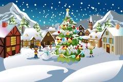 Estação do Natal ilustração royalty free