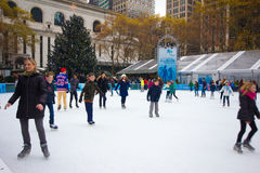 Estação do Natal do parque NYC de Bryant Imagens de Stock Royalty Free