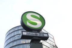 Estação do platz de Potsdamer fotos de stock