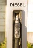 Estação do serviço - bocal de combustível do diesel Fotografia de Stock