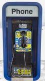 Estação do telefone do pagamento da chamada internacional Foto de Stock Royalty Free
