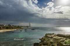 Estação elétrica de Hadera Imagem de Stock Royalty Free