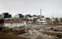 Estação elétrica atômica velha Fotos de Stock
