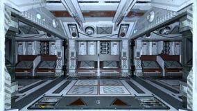 Estação espacial ilustração royalty free