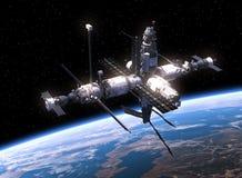 Estação espacial que orbita a cena de Earth Imagem de Stock Royalty Free