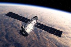Estação espacial que orbita a cena de Earth Foto de Stock Royalty Free