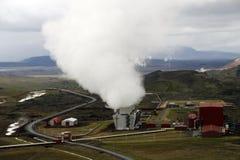Estação Geothermal imagens de stock
