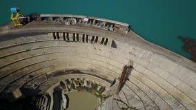 Estação hidroelétrico de Ingur, a central elétrica hidroelétrico a maior no Cáucaso video estoque