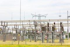Estação holandesa da distribuição para o transporte da eletricidade imagem de stock