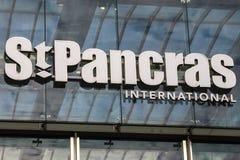 Estação internacional de St Pancras em Londres Imagem de Stock Royalty Free