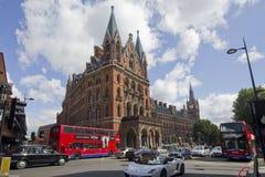Estação Londres do St. Panras Foto de Stock Royalty Free