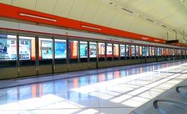 Estação longa do mtr do sibilo, Hong Kong Foto de Stock Royalty Free
