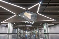 A estação maciça a mais atrasada de Muzium Negara do trânsito rápido do MRT Imagem de Stock