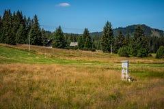 Estação meteorológica Horska Kvilda Foto de Stock Royalty Free