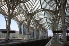 Estação moderna do trem e do metro Fotos de Stock Royalty Free
