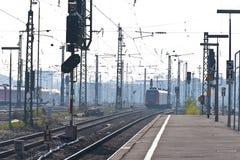 Estação na manhã-poeira fotografia de stock royalty free