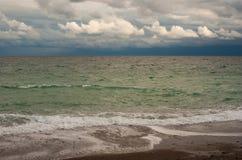 Estação outonal em uma costa do Mar Negro Imagem de Stock Royalty Free