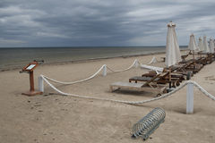 Estação pobre na costa Báltico fotografia de stock royalty free