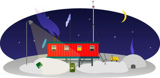 Estação polar na Antártica Fotos de Stock