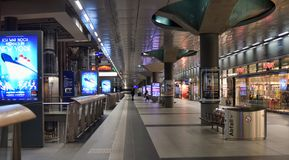 Estação principal Hauptbahnhof do trem de Berlim em Berlim, Alemanha Th Foto de Stock