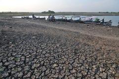 Estação seca em Indonésia imagens de stock