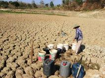 A estação seca em Indonésia Foto de Stock