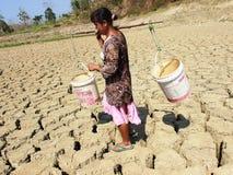 A estação seca em Indonésia Fotos de Stock Royalty Free