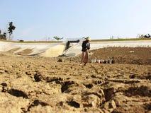 A estação seca em Indonésia Imagens de Stock Royalty Free
