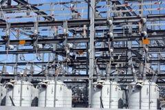Estação secundária elétrica Fotos de Stock Royalty Free