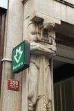 A estação subterrânea de Mustek assina dentro Praga Imagens de Stock Royalty Free