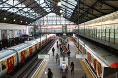 Estação subterrânea em Londres Fotos de Stock Royalty Free