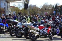Estação 2016 Varna da motocicleta da abertura, Bulgária Fotos de Stock Royalty Free