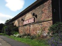 A estação velha na ponte de Stamford, Yorkshire foto de stock royalty free