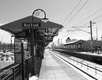 Estação vermelha do banco Foto de Stock