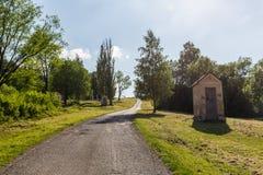 Estações da maneira transversal em Ruzomberok, Eslováquia Imagens de Stock Royalty Free