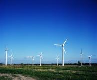 Estações das energias eólicas imagens de stock