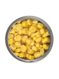 Estaño del maíz dulce Imágenes de archivo libres de regalías