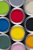 Estaños de la pintura - color Fotografía de archivo