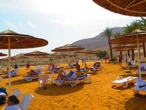 Esta é a areia no Mar Morto foto de stock