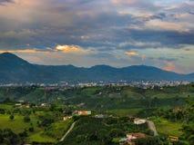 Esta é Pereira e suas montanhas fotografia de stock