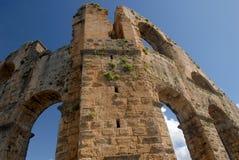 Aqueduto romano antigo Foto de Stock