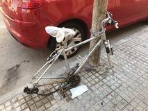 Esta é uma bicicleta imagem de stock royalty free