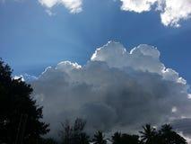 Esta é uma imagem do céu da tarde imagem de stock